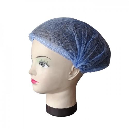 Синьо боне от нетъкан текстил, 42 см - 100 бр.