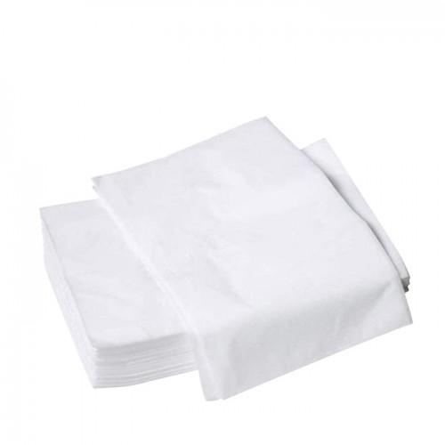 Бели еднократни чаршафи TNT без ластик – 10 броя
