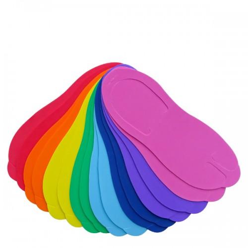 Цветни чехли за педикюр, еднократни