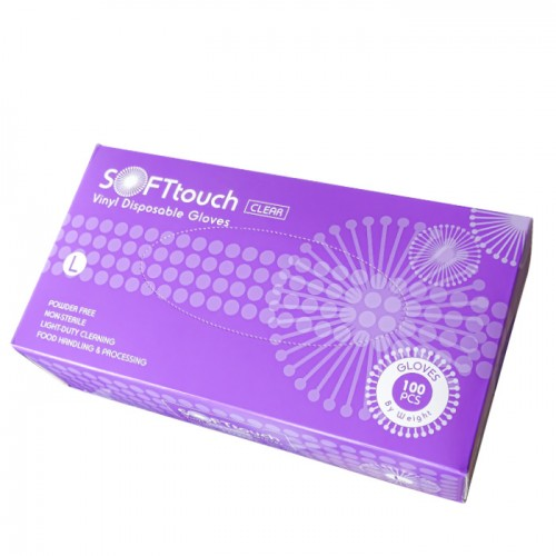 Предпазни еднократни ръкавици от винил 100 броя L размер