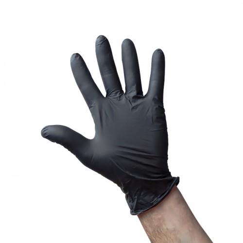 Еднократни ръкавици от нитрил в черен цвят, 100 броя