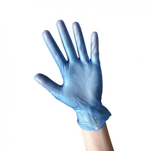 Еднократни ръкавици от нитрил в син цвят, 100 броя