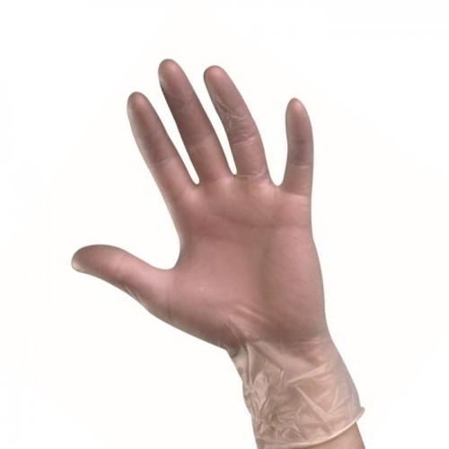 Предпазни еднократни ръкавици от винил 100 броя, S/M размер