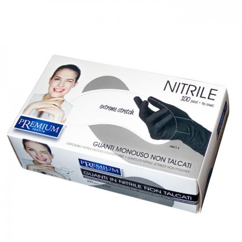 Еднократни ръкавици от нитрил в черен цвят Premium, 100 броя