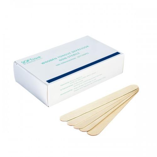 Дървени шпатули за кола маска Softcare – 100 бр.