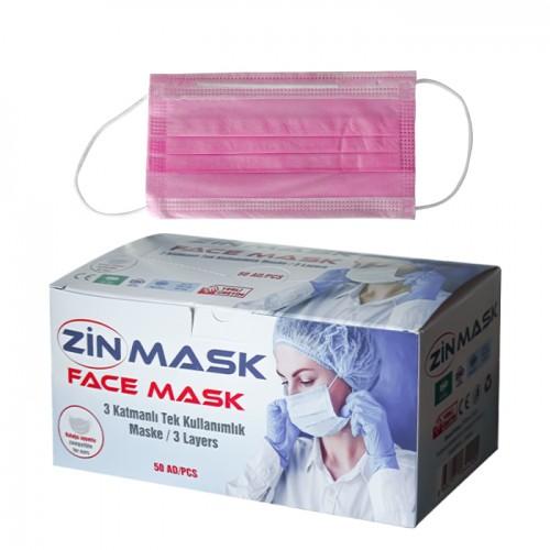 Трислойни медицински маски в кутия от 50 броя, Zin mask