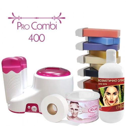 Пълен комплект за епилация с кола маска Pro Combi 400