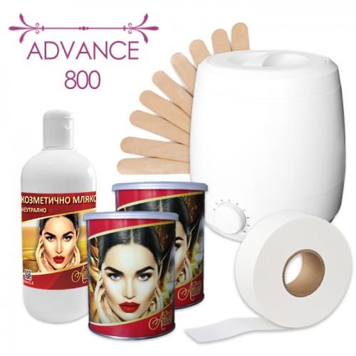 Професионален пакет за епилация с кола маска Advance 800