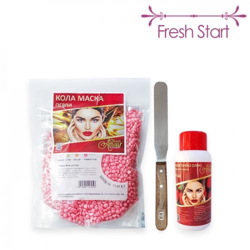 Пакет с основни консумативи за кола маска с перли Fresh Start