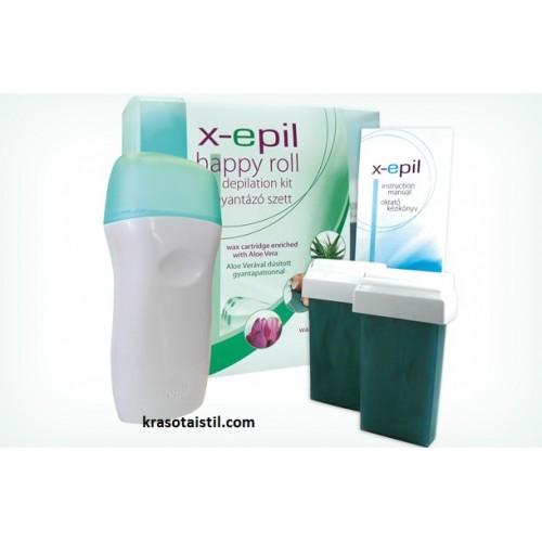 Комплект за епилация с нагревател -X-Epil happy Roll